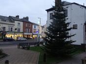 Christmas tree outside St. Paul's Church (Honiton)