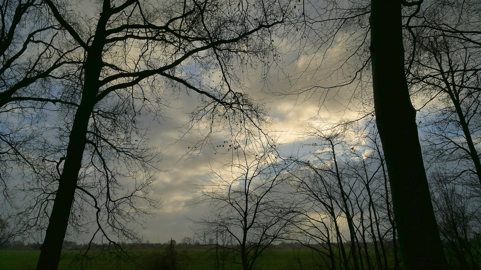 De zon staat op doorbreken, de Horsten Wassenaar 10.27 uur