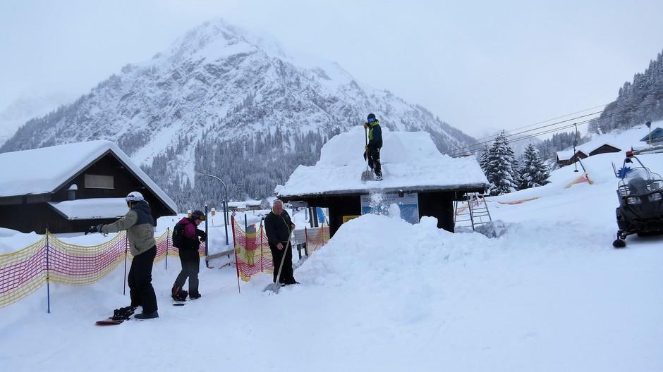 Alpen: vandaag sneeuwruimen, tot dinsdag weer 1 tot 1,5 meter sneeuw