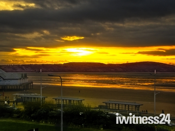 Spectacular Sunset over Brean Down
