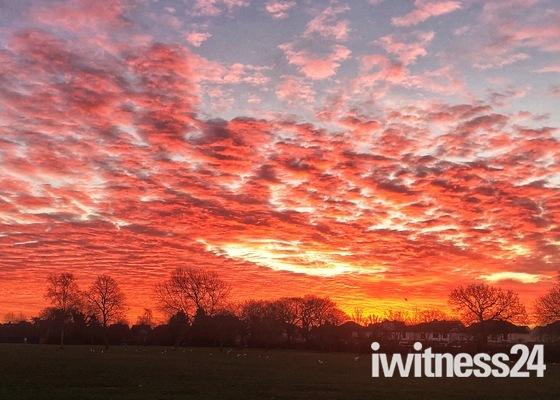 Sunrise over Hylands Park, Hornchurch