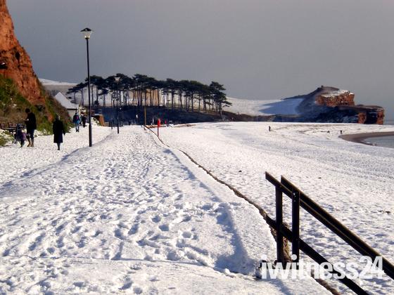 Budleigh beach path