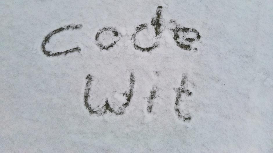 Sneeuw op komst