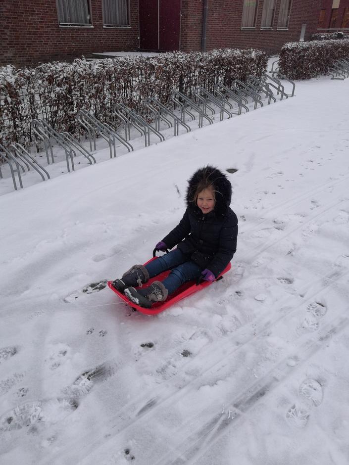 Eerste sneeuwpret van dit jaar