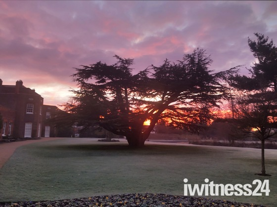 Sunrise over Langtons Gardens Hornchurch