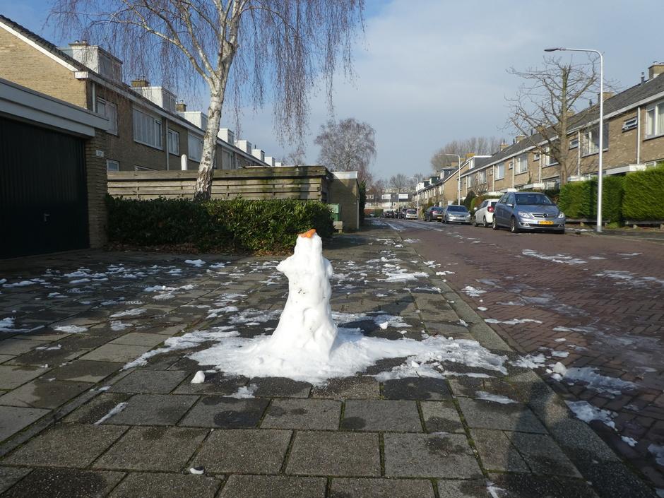 Op veel plaatsen is de sneeuw al verdwenen