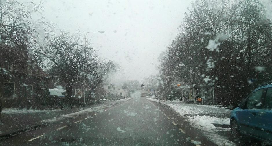 Kans op natte de sneeuw