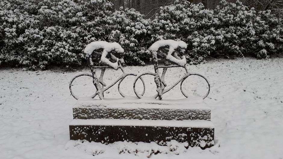 Wielrennen in de sneeuw