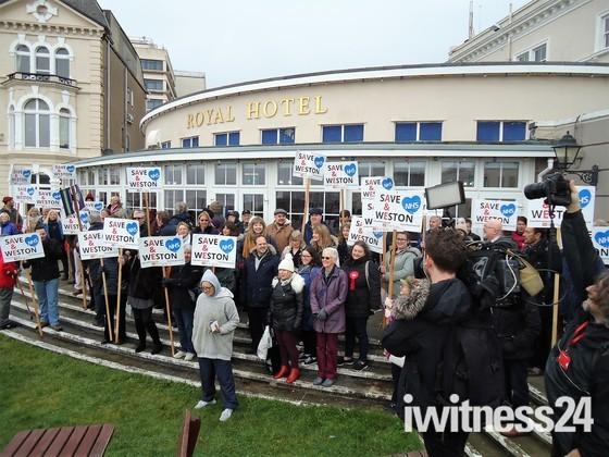 A and E Protest.