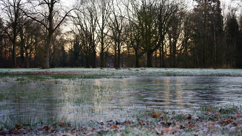 Bevroren waterplas