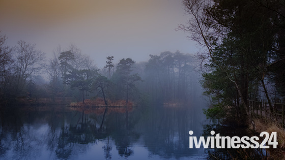 Bystock pools in the mist