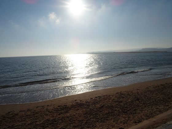 A sunny day on Exmouth beach