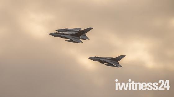 RAF Tornado Farewell Tour Flypast at RAF Wyton