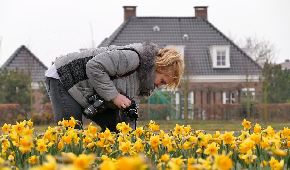 Weerfotograaf aan het 'werk' Noordwijkerhout