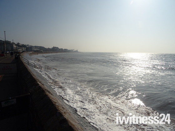 A sunny February morning beside the seaside