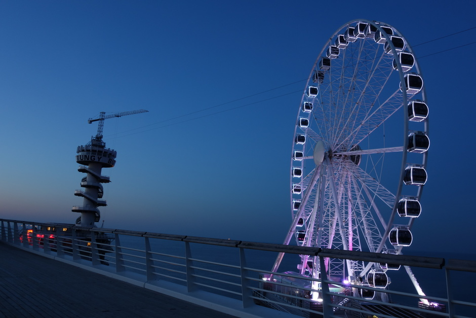 Blauw uur op Scheveningen