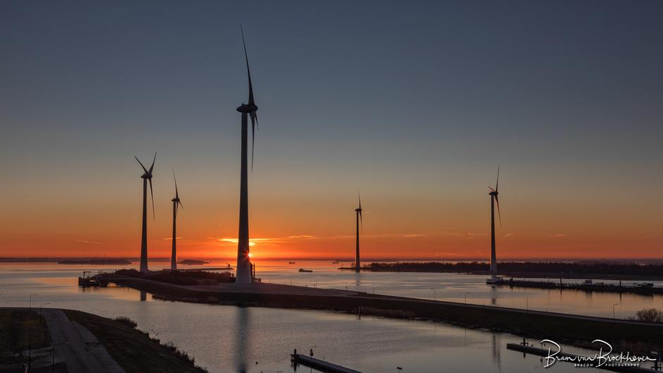 Krammer sluizen en windpark