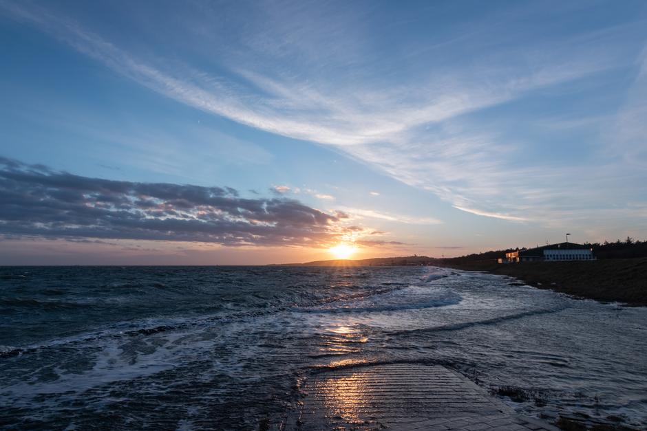 Vlieland, vlak voor zonsondergang