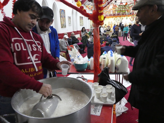 Celebrations of Shivratri in VHP Hindu Temple Ilford