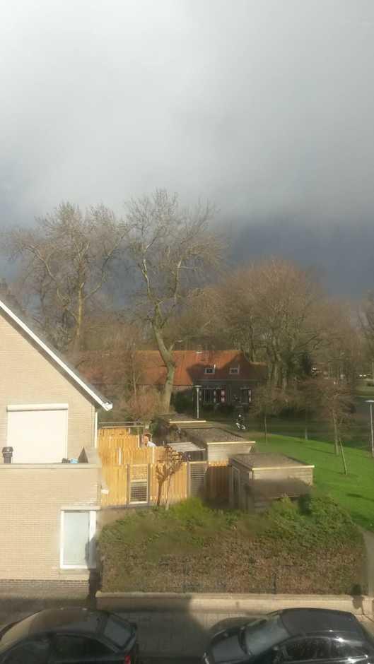 Dreigende-wolken en een beetje regen