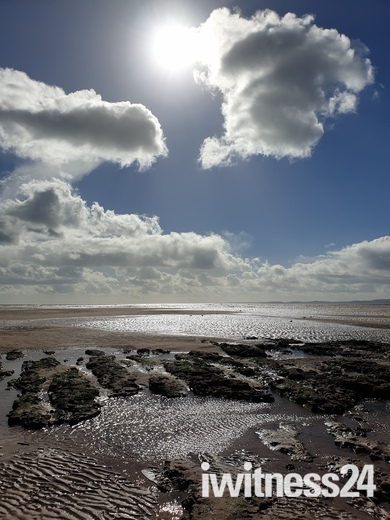 A glorious spring day over Exmouth beach