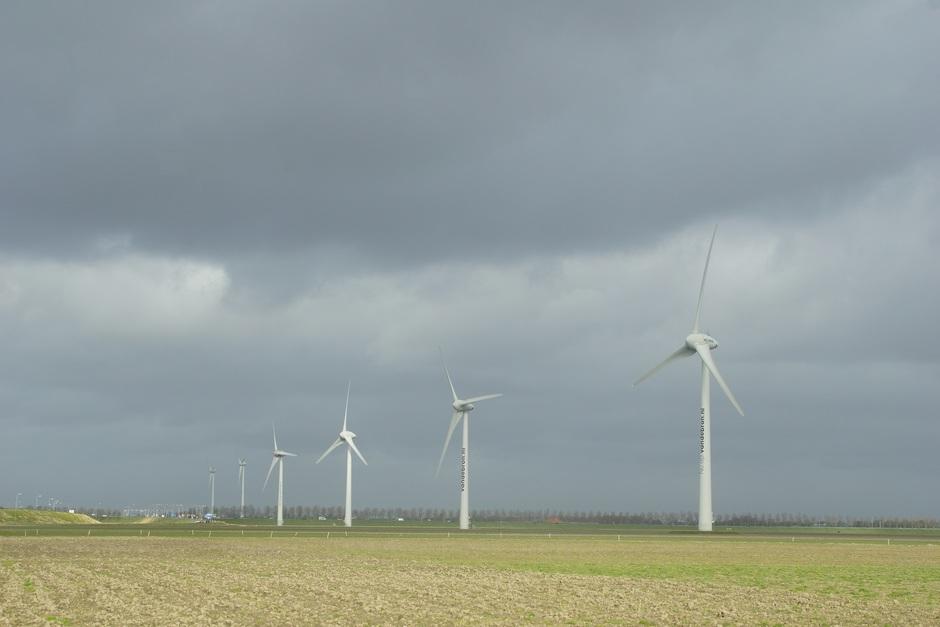 Veel wind, goed voor de groene energie