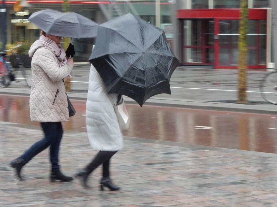 Wind en regen