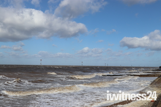 High tide at Hunstanton