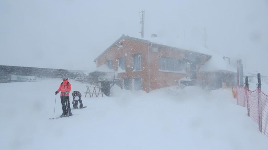 Alpen: wind en sneeuw