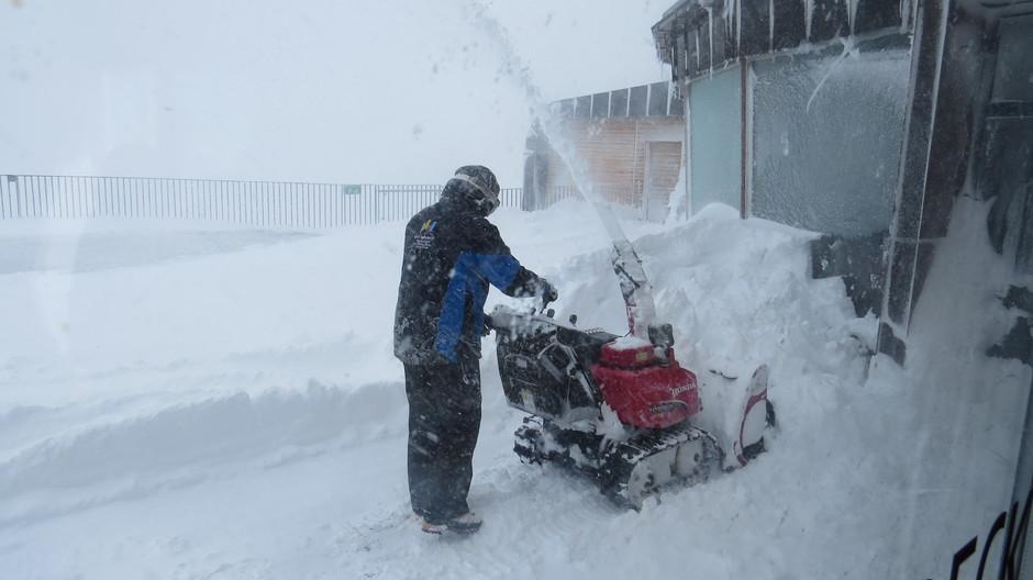 Alpen: Sneeuwstorm