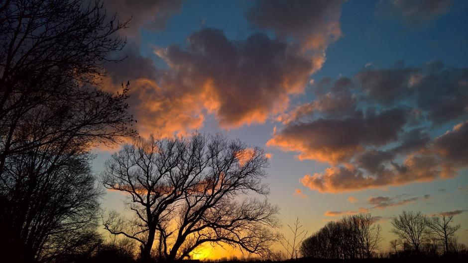 Zonsondergang boven het Roerdal