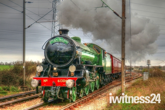 Mayflower Steam Train passing through Stanford-le-Hope