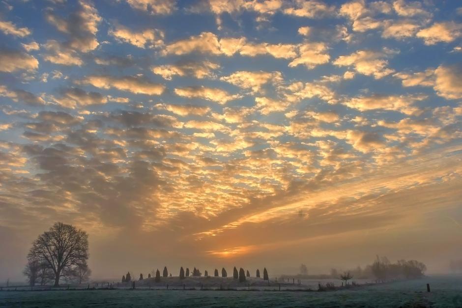 24-03-2019 Prachtige zonsopkomst in Hertme, Overijssel