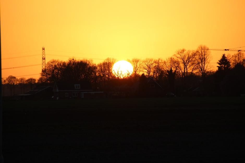 Zonsondergang in Emmen