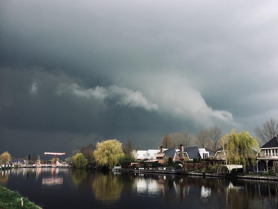 Onweer bij Bodegraven