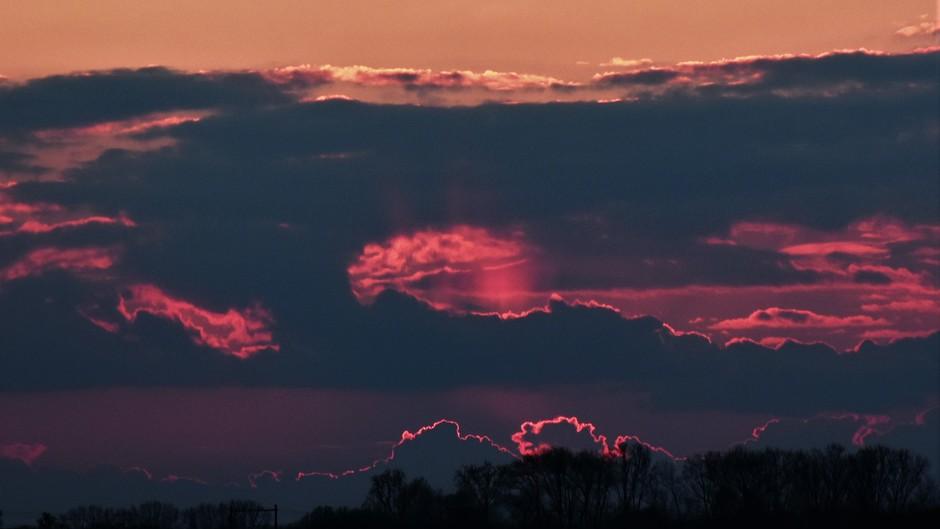 Avondkleuren na zonsondergang