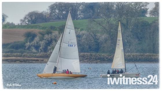 Sails aplenty on the River Orwell.
