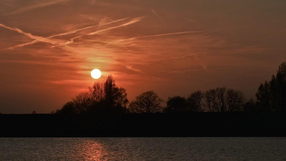 Zonsondergang vanavond