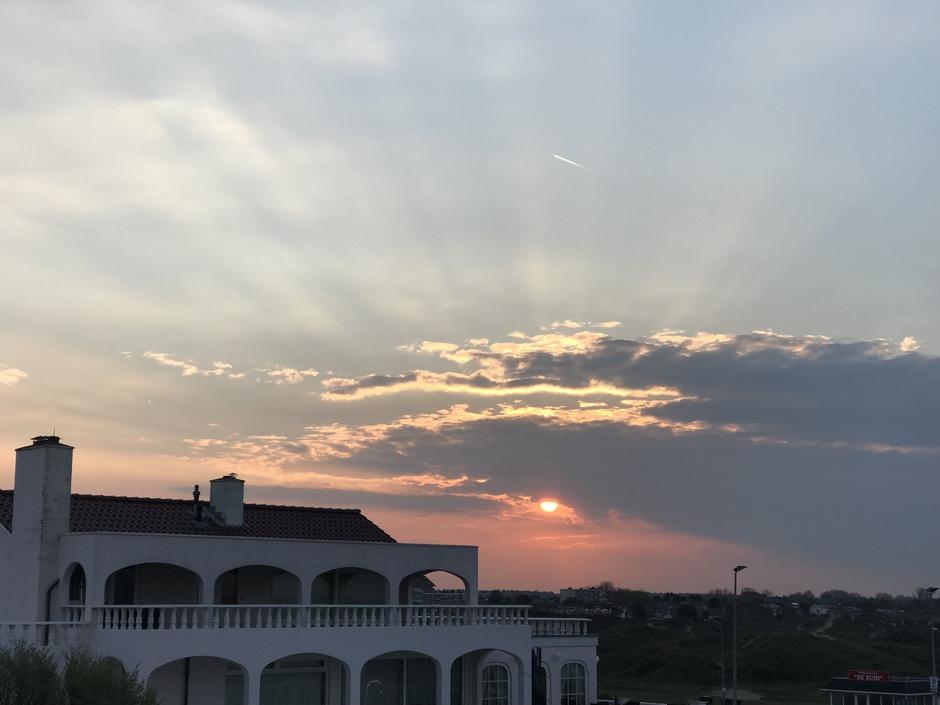 Stralen bij zonsopkomst