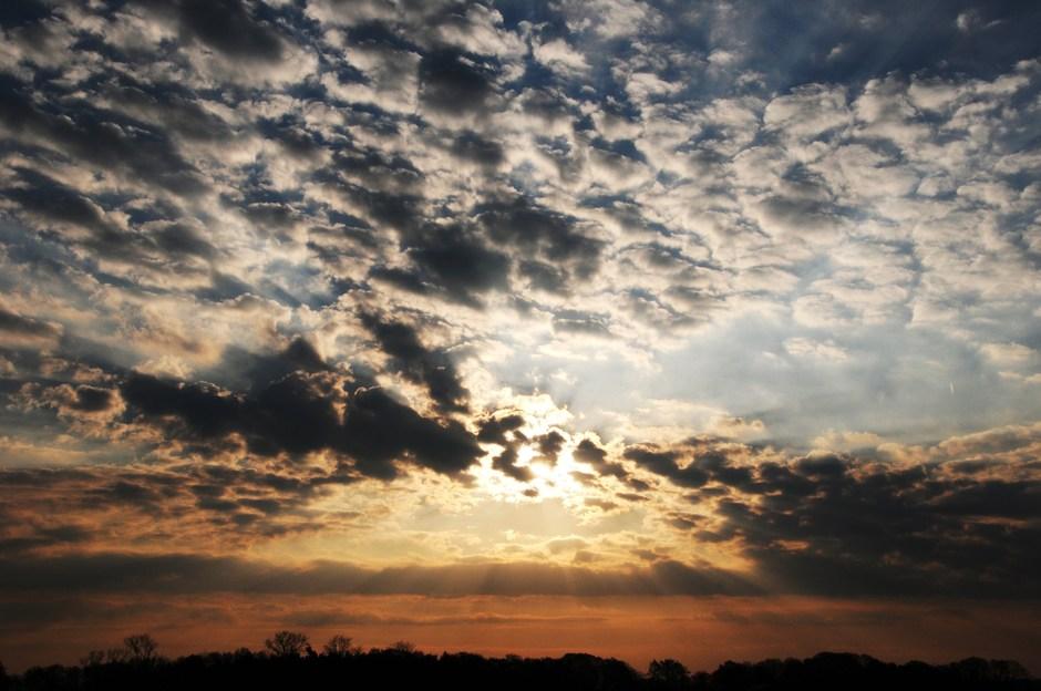 wolken vanochtend
