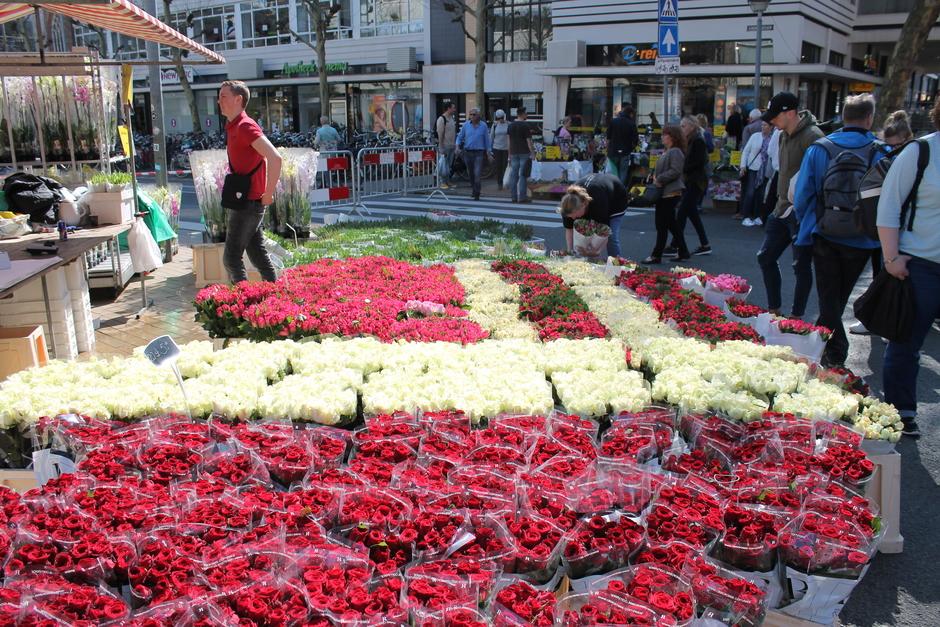 Een zonnige Goede Vrijdag, en de traditionele bloemetjesmarkt in Groningen.