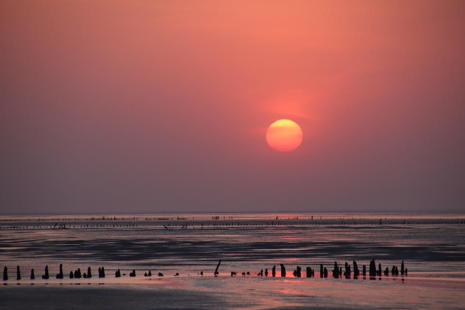 Zonsondergang bij Noordkaap