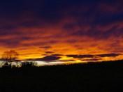 Sunset Aldeby coloured with the saharan sand