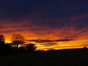 Sundown Aldeby  on wednesday evening