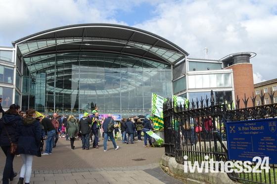 Norwich City promotion celebrations
