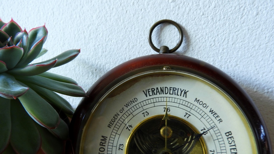 Snel gestegen barometer