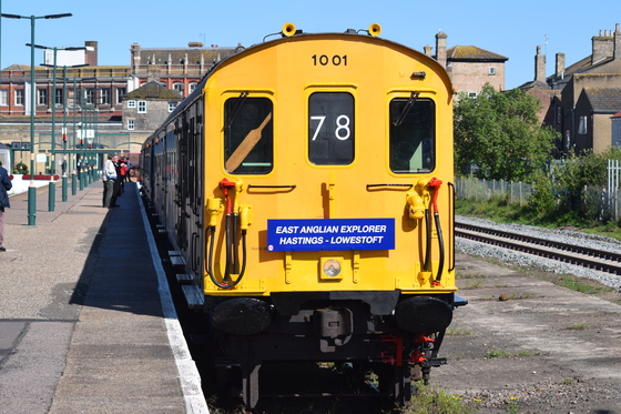 1001 Hastings DEMU from Hastings visiting Lowestoft 11/5/19.
