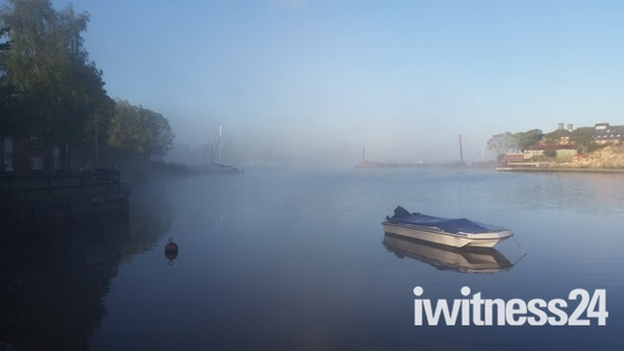 Misty morning in Oulton Broad