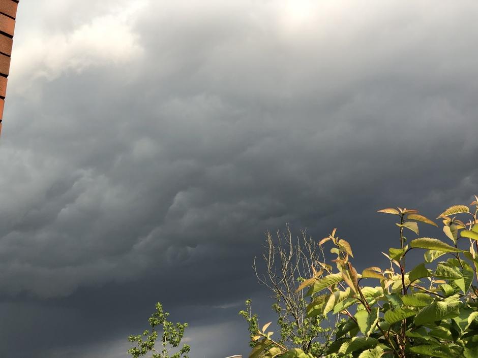 Echte onweer wolken Boxmeer