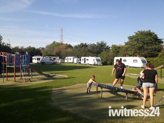 Irish Travellers illegally break into Maltlands park